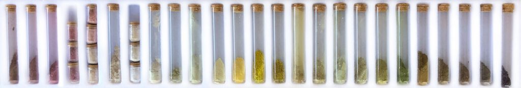 Pigments sourced in the environment